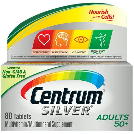 Centrum Silver Adult 50+ Multivitamin Tablets, 80
