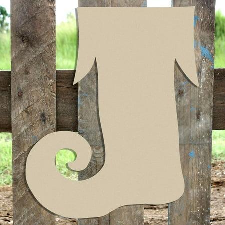 Unfinished Elf Stocking Cutout, Wooden Shape, DIY Craft - Diy Stockings
