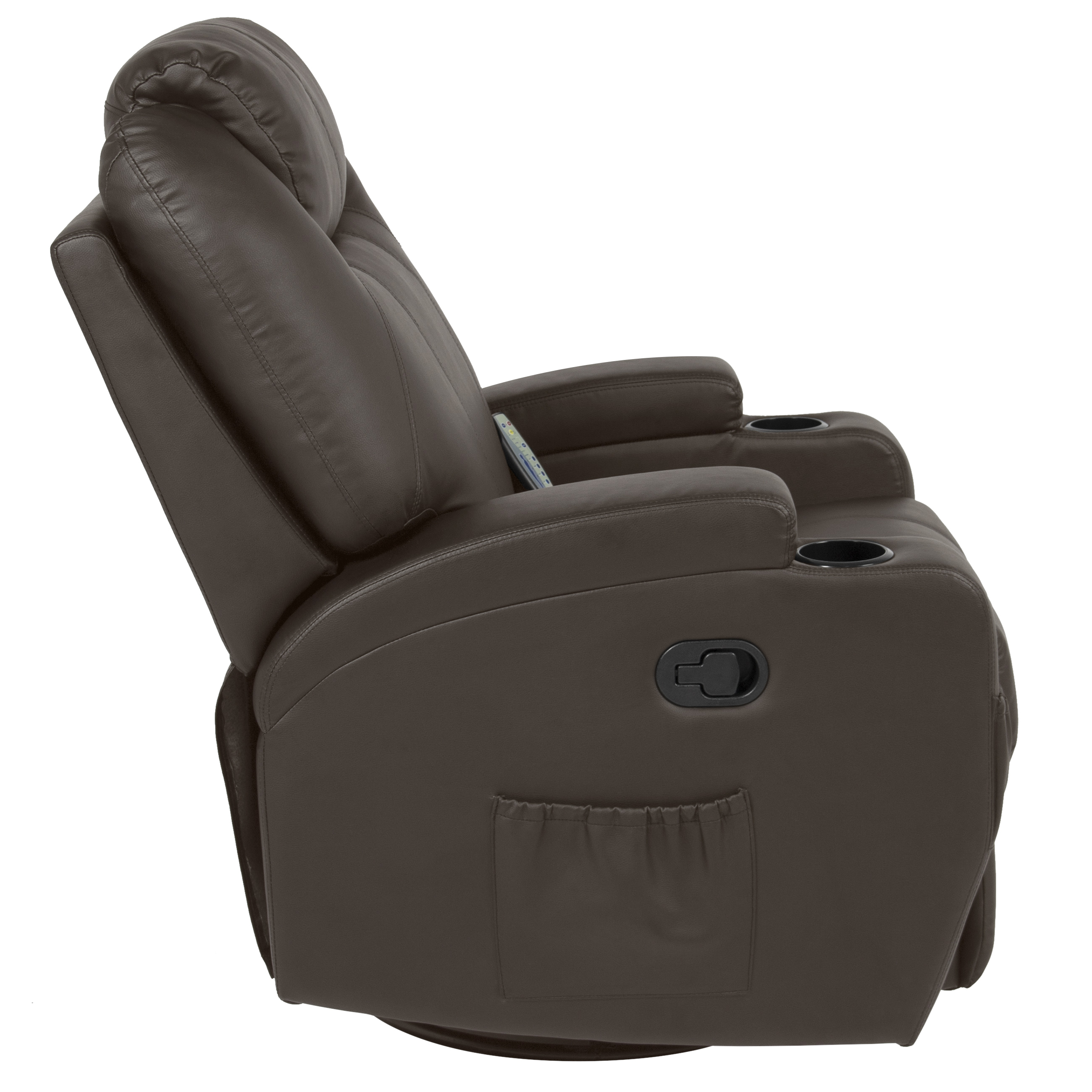Best Choice Products Executive Swivel Massage Recliner Chair W/ Remote  Control, 5 Modes, 2 Cup Holders   Brown   Walmart.com