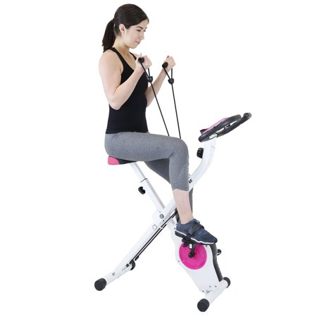 Xspec Upright Stationary Foldable Exercise Bike, Indoor Cycling Workout