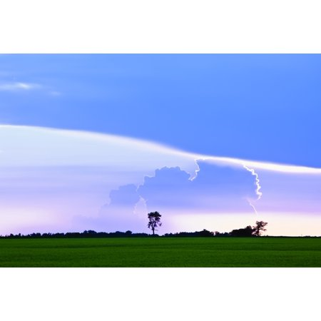 Storm Clouds At Sunset On Canadian Prairie Pembina Valley Manitoba Canvas Art   Ken Gillespie  Design Pics  17 X 11