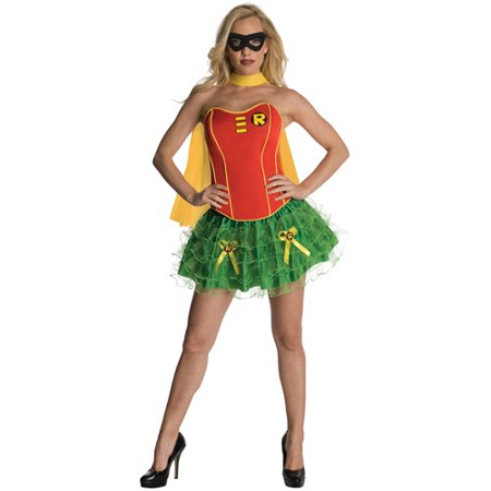 Robin Flirty Adult Halloween - Woman Batman And Robin Halloween Costumes