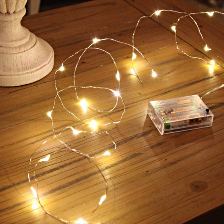 led string lights sanniu mini battery powered copper wire starry fairy lights battery operated