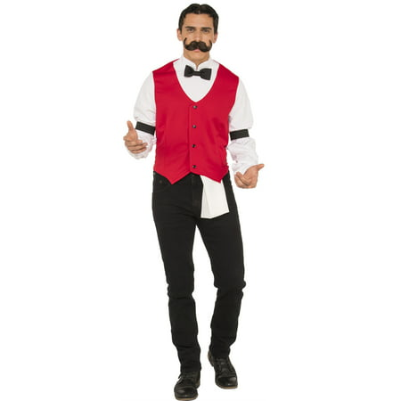 Western Saloon Halloween Costumes (Old Fashioned Wild West Saloon Bartender Adult Men Halloween)