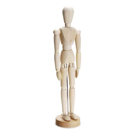 Art Mannequin - Poseable Wooden Figure 12 inches (Wooden Drawing Figure)