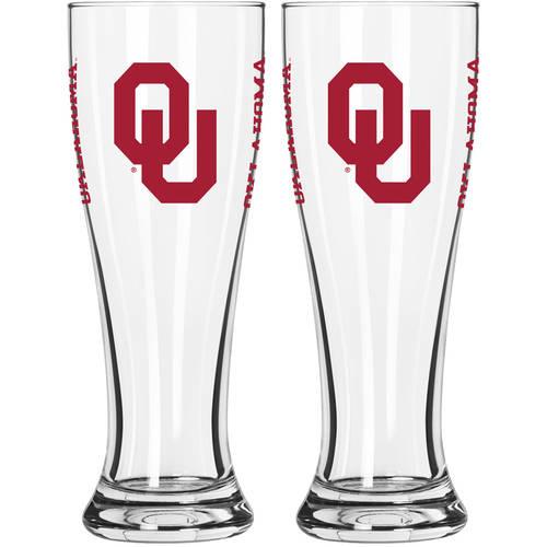 Boelter Brands NCAA University of Oklahoma Sooners 2-Pack Gameday Pilsner Set