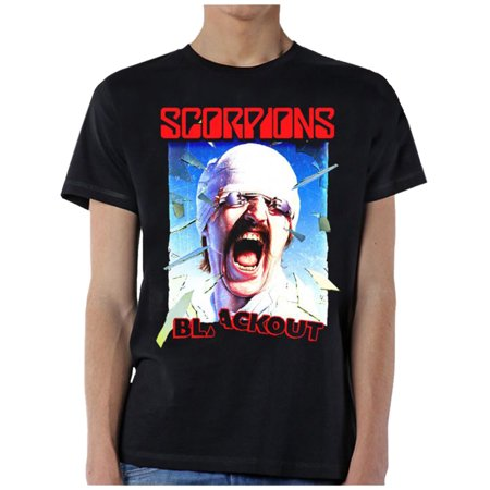 Scorpions Blackout Album Cover Graphic Short Sleeve T-shirt Album White T-shirt