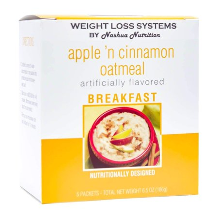 Weight Loss Systems Oatmeal - Apple 'n Cinnamon - High Protein - Low Fat - (Best Oatmeal Brand For Weight Loss)