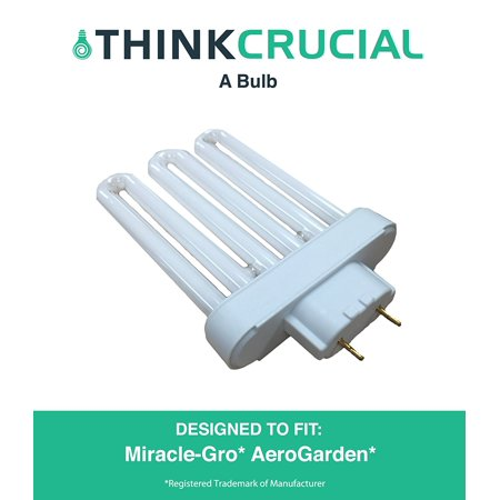 High Efficiency Miracle-Gro AeroGarden A Grow Bulb, Premium Fluorescent Light Projection, 7 x 4 x 5 in., Part # 100633, by By Think Crucial