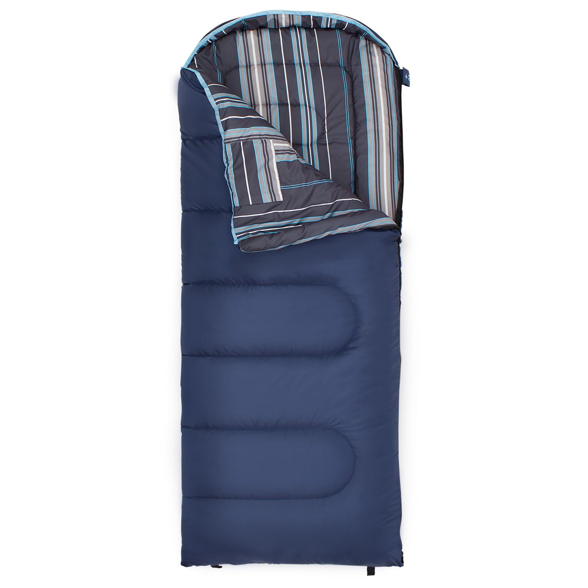 Celsius? Jr -7C/+20F Sleeping Bag (Blue w/ stripe liner) left zip