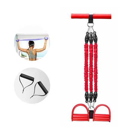 Pedal Puller Sit-ups Elastic Rope Multi-functional Arm Training Pedal Pull Rope Fitness Exerciser Rope for Home Use