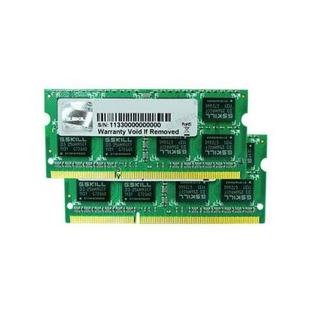 1066 Dual Channel - G.SKILL 4GB (2 x 2GB) DDR3 PC3-8500 1066MHz Dual Channel Kit Laptop Memory Model F3-8500CL7D-4GBSQ