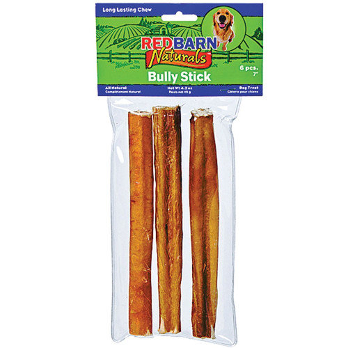 Redbarn Pet Products Inc Naturals Bully Sticks Rawhide Dog Treat (3-Pack)