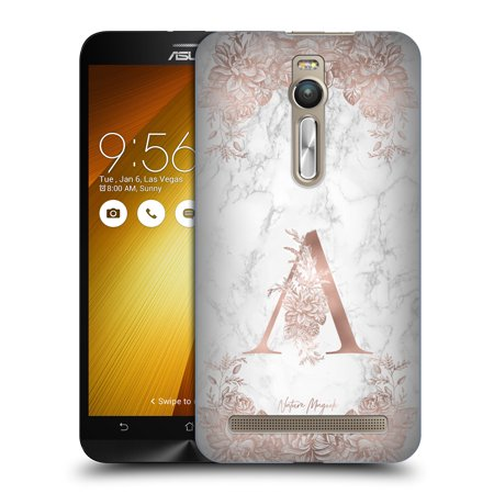 OFFICIAL NATURE MAGICK ROSE GOLD MARBLE MONOGRAM HARD BACK CASE FOR ASUS  ZENFONE PHONES