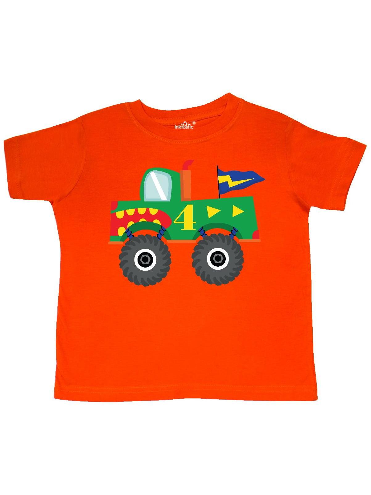 4th Birthday Monster Truck Toddler T-Shirt