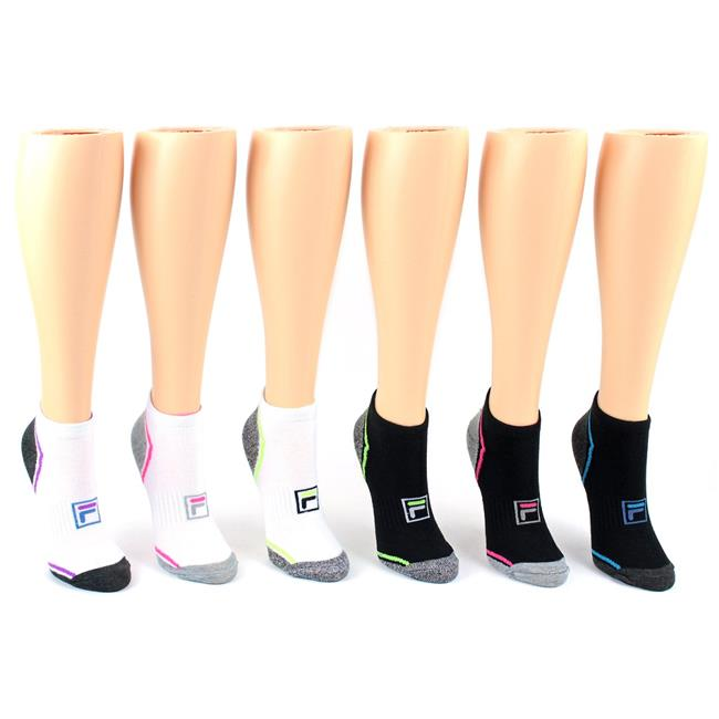 Eros Eros 6022B 7L7 Womens Fila Brand No Show Socks Size 9 11 3 Pair per Pack Case of 10