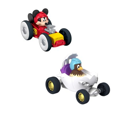 Fisher-Price Mickey Mouse & Clara Roadster Racers Die-Cast Vehicles Toys 2Pcs