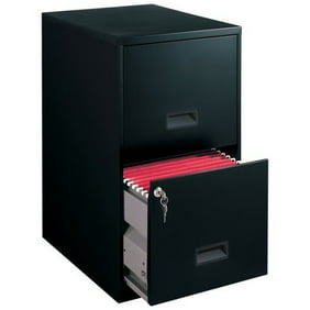 Filing Cabinet 2-Drawer Steel File Cabinet with Lock, Black