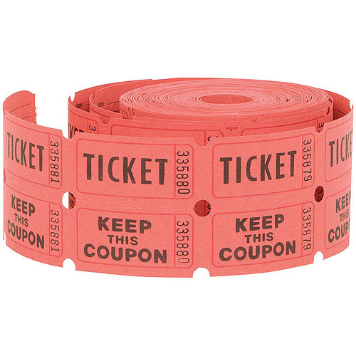 Double Roll Raffle Tickets, 500Ct (Assorted Colors) - Walmart.Com