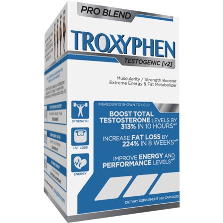 Truderma Troxyphen Testostérone Fat Burner, 60 count