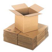 General Supply Brown Corrugated - Cubed Fixed-Depth Shipping Boxes, 12l x 12w x 12h, 25/Bundle -UFS121212