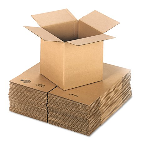 General Supply Brown Corrugated - Cubed Fixed-Depth Shipping Boxes, 12l x 12w x 12h, 25/Bundle -UFS121212 (Shipping Boxes With Styrofoam)