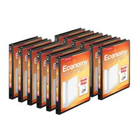 (12 Pack) Cardinal Economy Value ClearVue Binder, XtraLife Hinge, Blk, 5/8 Inch