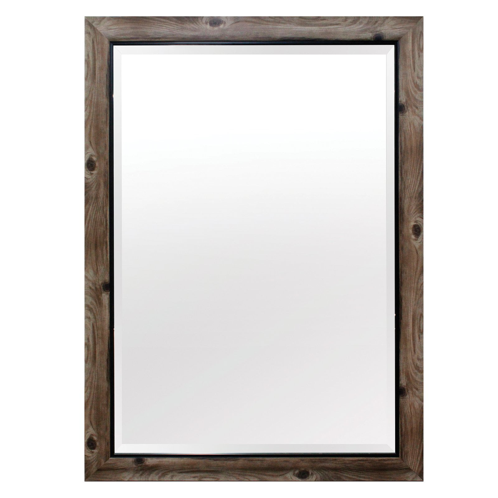 Yosemite Home Gray Wood Frame with Black Trim Wall Mirror by Yosemite