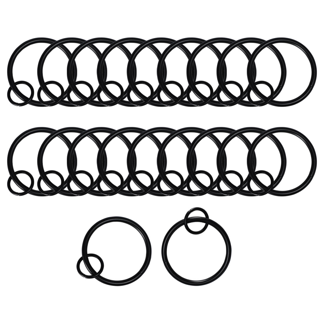 """20pcs Metal Curtain Rings With Eyelet For 1.5"""" Shower"""