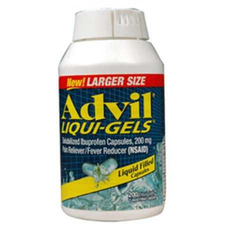 Advil 200 mg Liqui-Gels 200 ea (Paquet de 2)