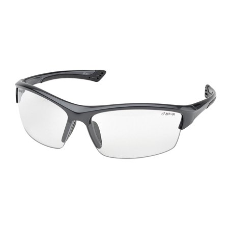 Elvex Sg 350C Grey Sonoma Safety Glasses  Clear Lens With Gunmetal Color Frame
