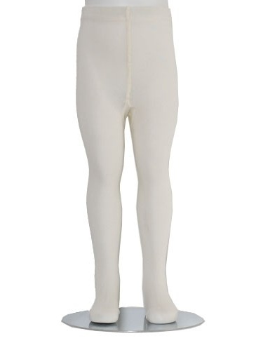Ivory Piccolo Heavyweight Opaque Baby Girl Tights 0-24M