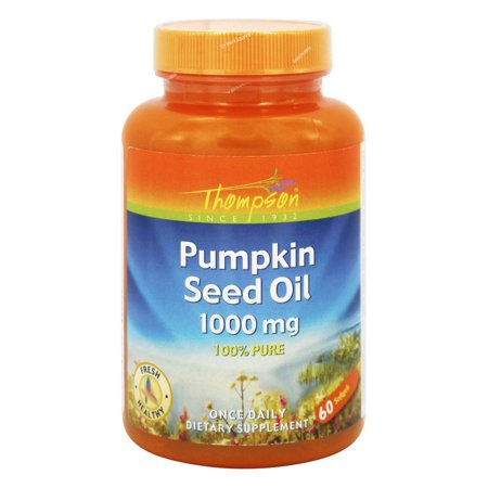 (Thompson - Pumpkin Seed Oil 100% Pure 1000 mg. - 60 Softgels)
