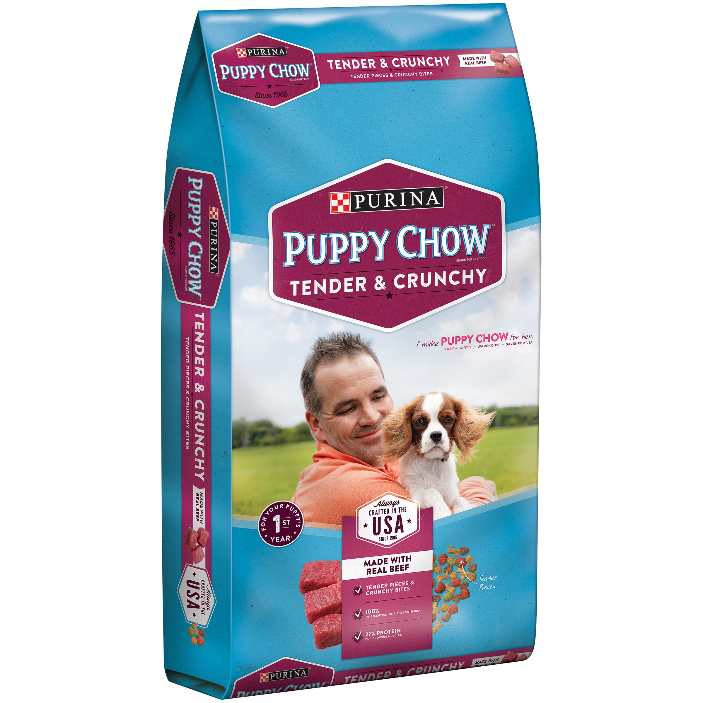 Purina Puppy Chow Tender and Crunchy Puppy Food 32 lb. Bag by Nestlé Purina PetCare Company
