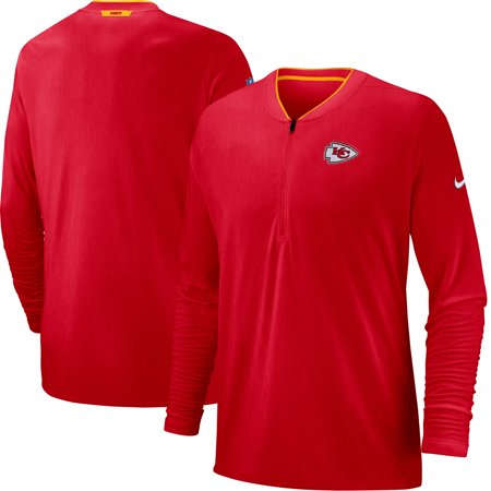 - Kansas City Chiefs Nike Sideline Coaches Half-Zip Pullover Jacket - Red