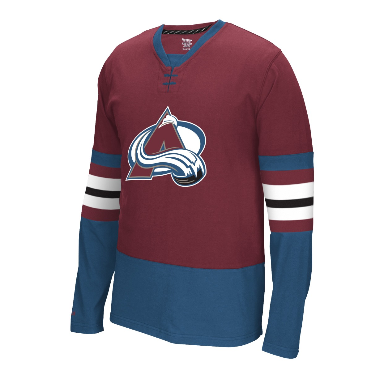 "Colorado Avalanche Reebok NHL ""Face Off"" Long Sleeve Jersey Shirt"