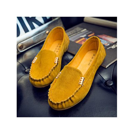 b64a9031d06 Womens Comfort Moccasin Ballerina Ballet Pumps Ladies Flat Loafers Slip On  Shoes