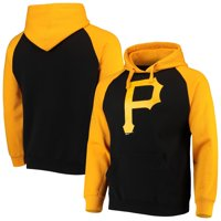 Pittsburgh Pirates Stitches Color Block Raglan Pullover Hoodie - Black/Gold