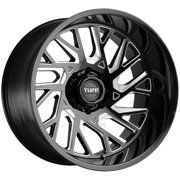 "Tuff T4B (Right) 26x14 8x6.5"" -72mm Black/Milled Wheel Rim 26"" Inch"