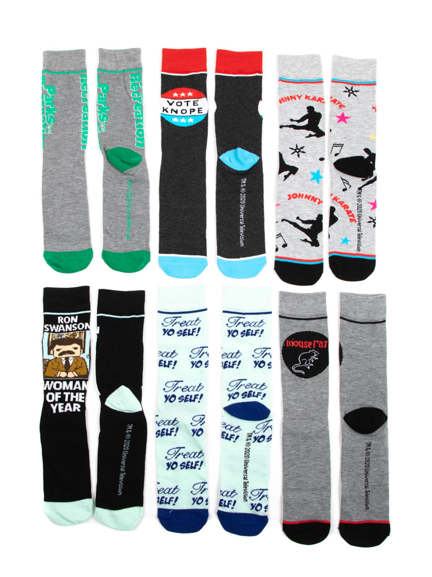Men's Parks & Rec Socks, 6 Pack