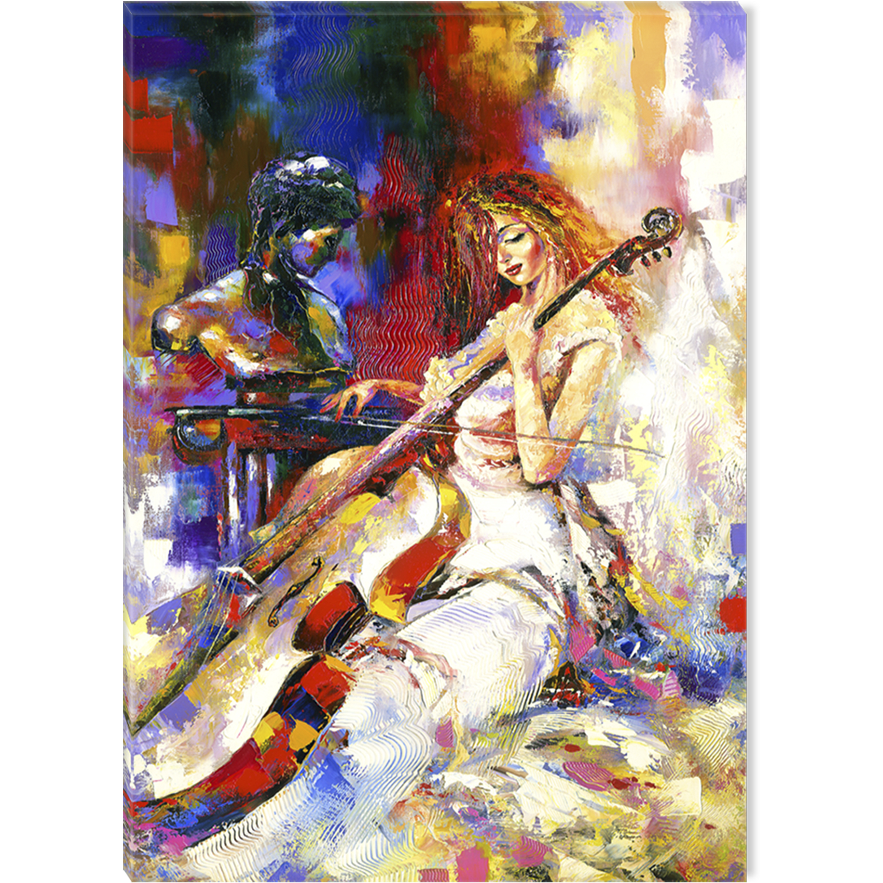 Startonight Canvas Wall Art Woman Playing the Violoncello USA Design for Home