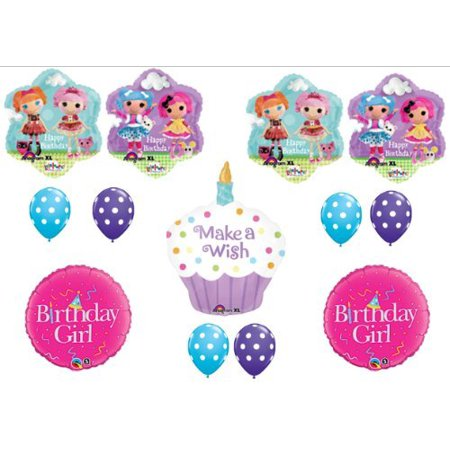 LalaLoopsy Happy Birthday CUPCAKE Party Balloons Decorations Supplies by Anagram - Lalaloopsy Party Supplies