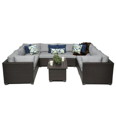 Premier 9 Piece Outdoor Wicker Patio Furniture Set 09a