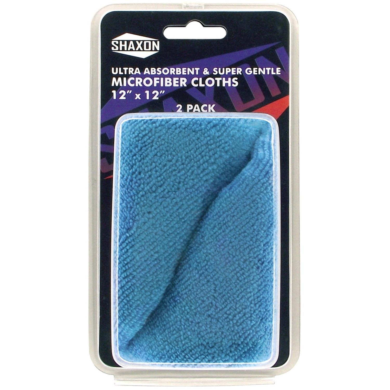 "Shaxon Microfiber Cloth, 2-Pack, 12"" x 12"""