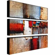 "Trademark Fine Art ""Cube Abstract VI"" Canvas Art by Rio, 3-Piece Panel Set, 10x32"