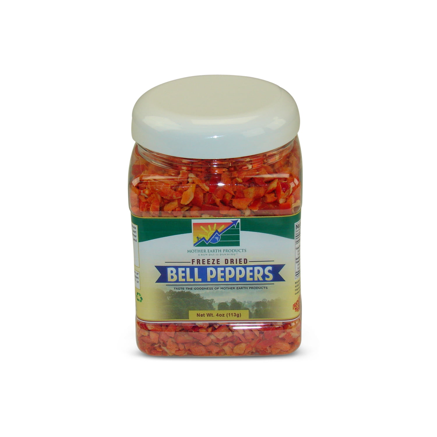 Mother Earth Products Freeze Dried Red Bell Peppers, jar by Mother Earth Products