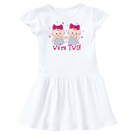We're Two Twin Girls Toddler Dress