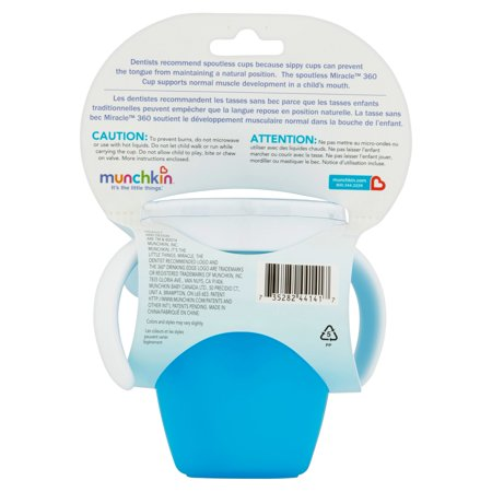 Munchkin Miracle 360 Trainer Cup, Green/Blue, 7 Ounce, 2 Count - image 3 of 5