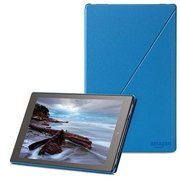 Amazon - Screen cover for eBook reader - polyurethane - blue - for Kindle Fire HD 10
