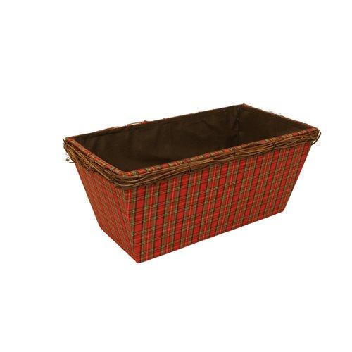 WaldImports Holiday Plaid Wood Planter Box (Set of 3)